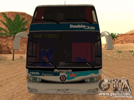 Marcopolo Paradiso 1800 G6 8x2 SCANIA for GTA San Andreas back left view