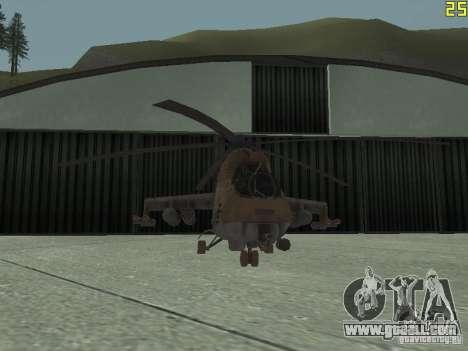 Mi-24 p Desert Camo for GTA San Andreas side view