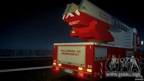 Scania Fire Ladder v1.1 Emerglights blue [ELS] for GTA 4 interior