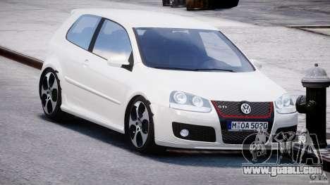 Volkswagen Golf GTI 2006 v1.0 for GTA 4 back view