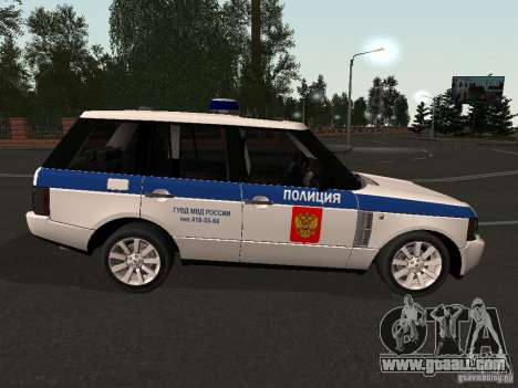 Range Rover Supercharged 2008 Police DEPARTMENT for GTA San Andreas right view