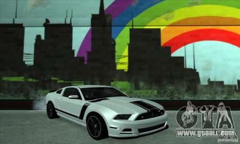 Ford Mustang Boss 302 2013 for GTA San Andreas back view