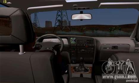 Opel Omega A Diamant Stock for GTA San Andreas inner view