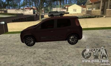 Fiat Novo Uno Sporting for GTA San Andreas right view