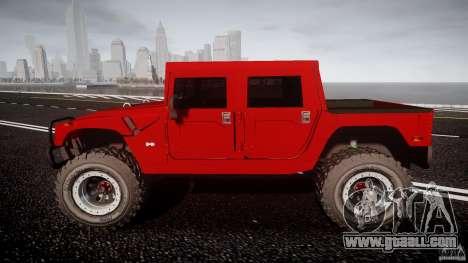 Hummer H1 4x4 OffRoad Truck v.2.0 for GTA 4 inner view