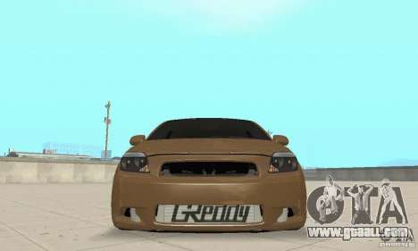 Toyota Scion tC Edited for GTA San Andreas back view