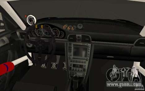 Porsche 997 Rally Edition for GTA San Andreas upper view