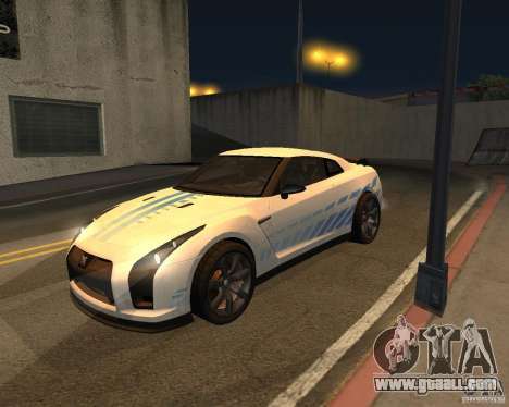 Nissan GT-R Pronto for GTA San Andreas inner view