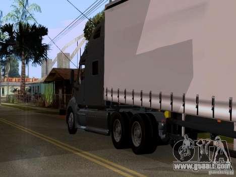 Peterbilt 389 for GTA San Andreas back view