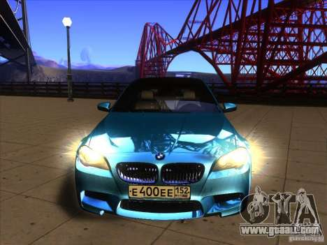 BMW 535i F10 for GTA San Andreas right view