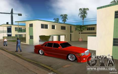 Mercedes-Benz W126 Wild Stile Edition for GTA Vice City back left view