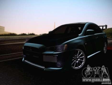 Mitsubishi Lancer Evolution Drift Edition for GTA San Andreas inner view