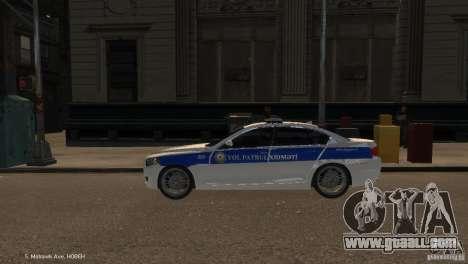 BMW 550i Azeri Police YPX for GTA 4 left view
