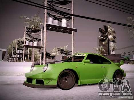 Porsche 911 Turbo RWB Pandora One for GTA San Andreas left view