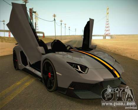 Lamborghini Aventador J for GTA San Andreas back left view