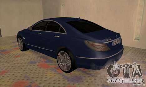 Mercedes-Benz CLS63 AMG 2012 for GTA San Andreas right view