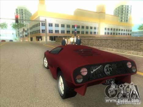 Infernus from GTA IV for GTA Vice City right view