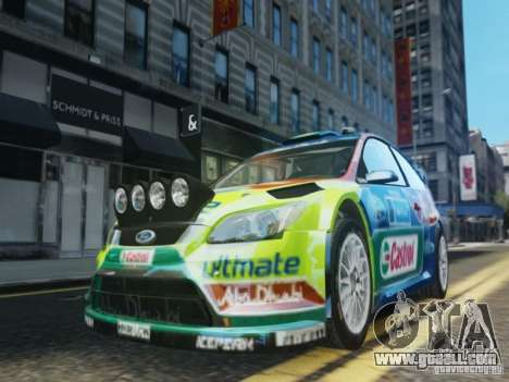 Ford Focus RS WRC for GTA 4 upper view