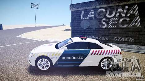 Audi S5 Hungarian Police Car white body for GTA 4 left view