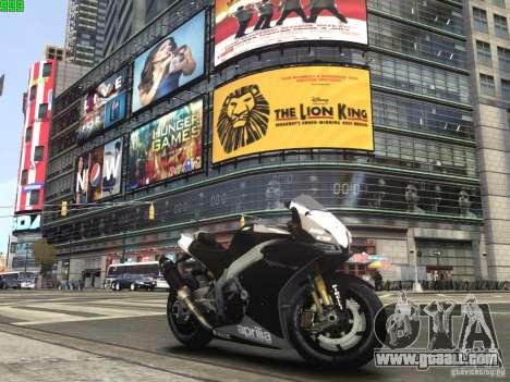 Aprilia RSV-4 Black Edition for GTA 4 left view