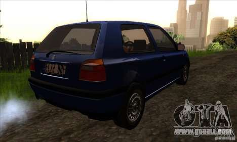 Volkswagen Golf 3 for GTA San Andreas right view