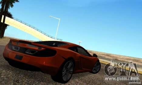 McLaren MP4-12C for GTA San Andreas left view