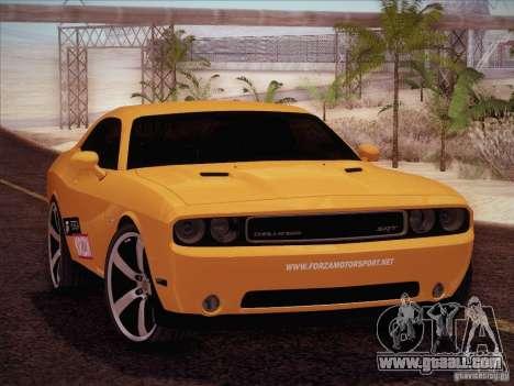 Dodge Challenger SRT8 2010 for GTA San Andreas inner view