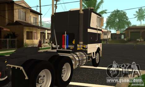 Peterbilt 362 Cabover for GTA San Andreas right view