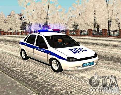 VAZ 1118 DPS for GTA San Andreas left view