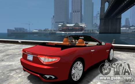 Maserati GranCabrio for GTA 4 right view