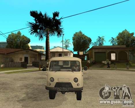 UAZ 2206 for GTA San Andreas back view