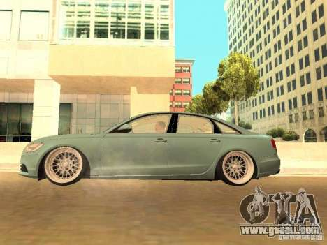 Audi A6 Stanced for GTA San Andreas inner view