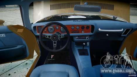 Pontiac Firebird 1970 for GTA 4 side view