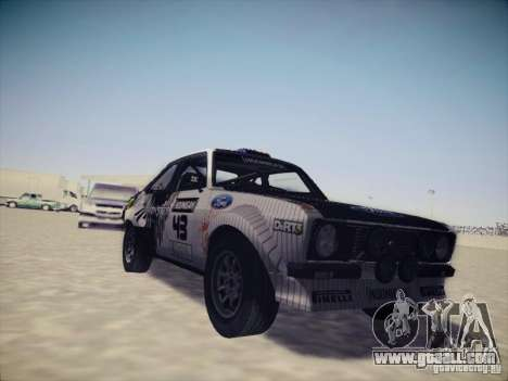 Ford Escort MK2 Gymkhana for GTA San Andreas left view
