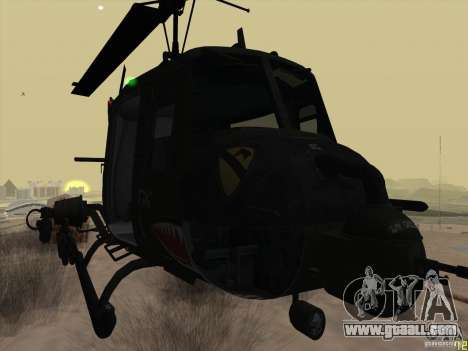 Huey helicopter from call of duty black ops for GTA San Andreas right view
