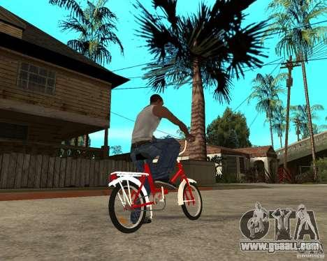 Tair GTA SA Bike Bike for GTA San Andreas back left view