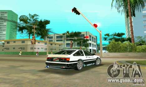 Toyota Trueno AE86 4type for GTA Vice City back left view
