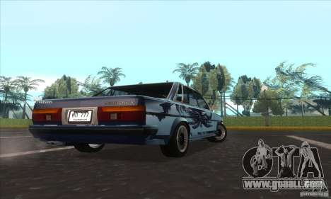 Toyota Cresta GX71 for GTA San Andreas back left view
