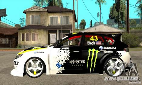 Subaru Impreza 2009 (Ken Block) for GTA San Andreas left view