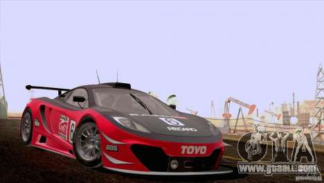 McLaren MP4-12C Speedhunters Edition for GTA San Andreas inner view