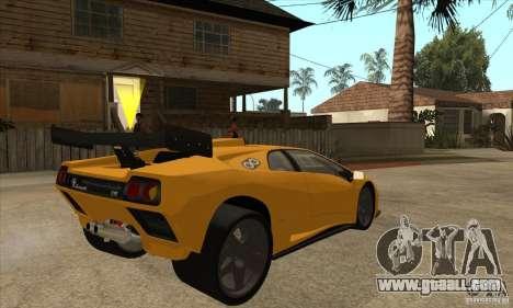 Lamborghini Diablo GT-R for GTA San Andreas right view