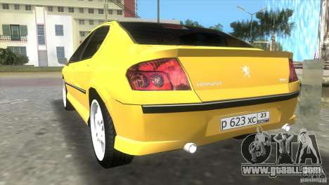Peugeot 407 for GTA Vice City left view