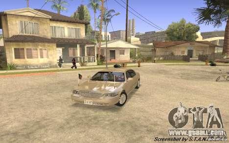 Lincoln Towncar Secret Service for GTA San Andreas left view