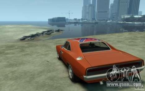 Dodge Charger General Lee v1.1 for GTA 4 back left view