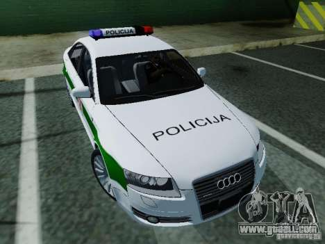 Audi A6 Police for GTA San Andreas back view