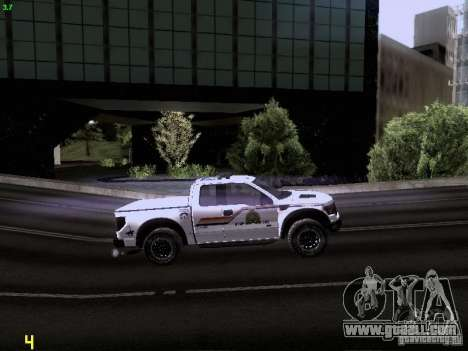Ford Raptor Royal Canadian Mountain Police for GTA San Andreas side view