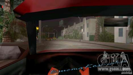 View from the cab for GTA Vice City