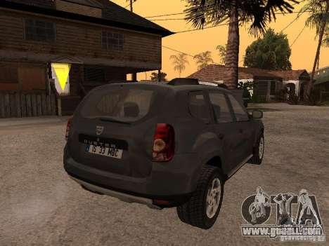 Dacia Duster for GTA San Andreas inner view