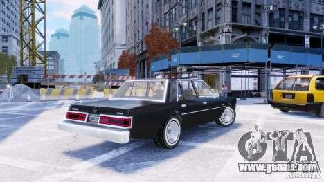 Dodge Diplomat 1983-85 for GTA 4 left view