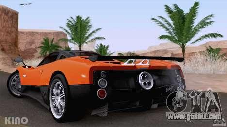 Pagani Zonda F for GTA San Andreas back view